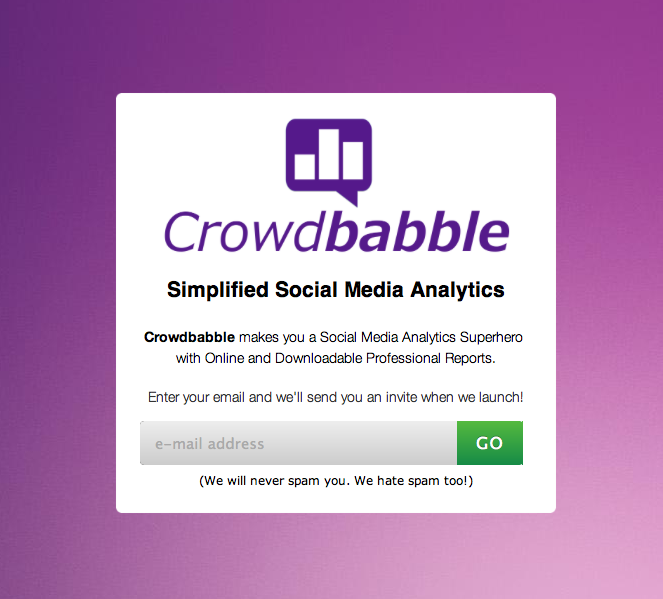 Social Media Analytics | Social Media Measurement | Crowdbabble Splash Page