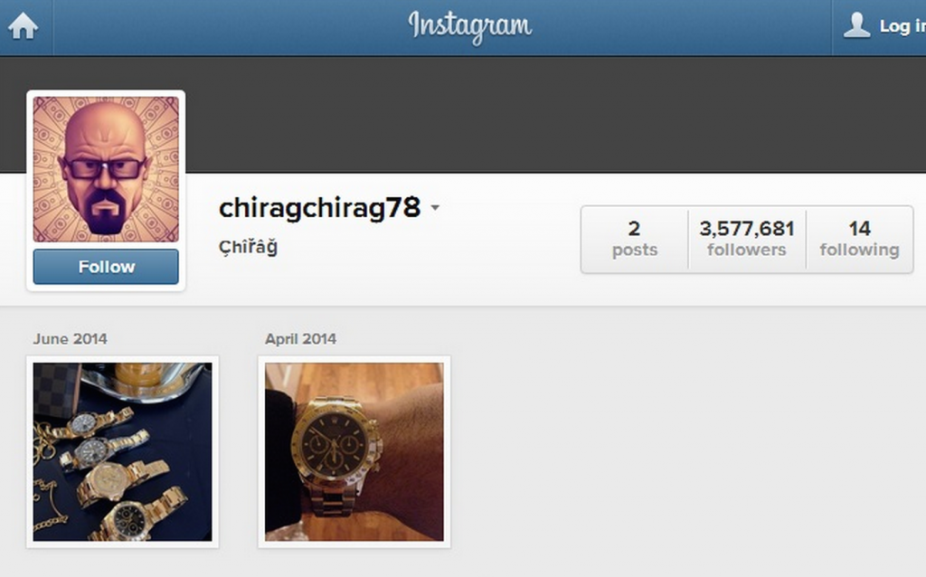 Instagram Purge chiragchirag78 Followers Lost