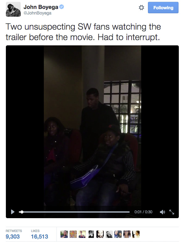 John Boyega surprises fans in a Twitter video